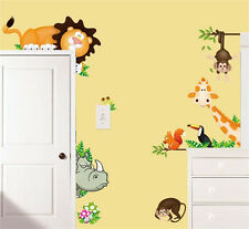 Jungle Wild Animals Wall Art Decals Kids Bedroom  Baby Nursery Stickers  Decor