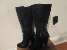 jessica simpson leather boots new 7.5 buckle boots