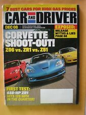 Car and Driver Magazine December 2008- Corvette Shoot-Out