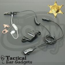 Hawk Lapel Mic Police Earpiece for Harris MA-Com P7200 P5100 Jaguar 700P Radios
