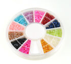 1400pcs Nail Art Half Round PearlS Rhinestone 12 MIX Colors Decoration Wheel 2mm
