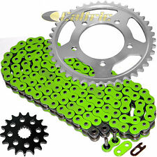 Green O-Ring Drive Chain & Sprockets Kit Fits KAWASAKI ZX1400 Ninja ZX-14R 12-16