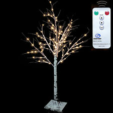 1.5m Cherry Blossom ALBERO BIANCO 72led Luci Giardino D'Inverno Natale Natale All'aperto