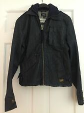 G-Star Raw Womens M Dark Denim  Jacket With Knit Collar