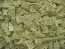 50 LEGO PIECES WHITE Roof Inclines Slopes Bricks bulk lot wedge house city town