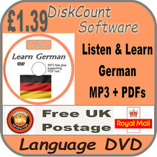 Listen & Learn German Language Courses CD  mp3 audio & text