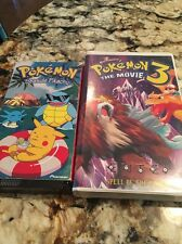 2 Pokemon Vhs Tapes The Movie 3 Seaside Pikachu