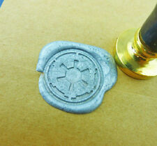 Star Wars wax seal stamp Gold Plated Imperial Crest Gal wedding stamp WS081
