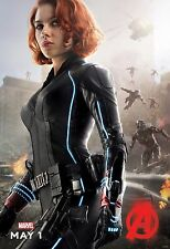 Avengers 2 Age of Ultron Movie Poster (24x36) - Black Widow, Scarlett Johansson