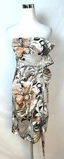 Karen Millen New #Dj091 Sateen Strapless Dress Size 12