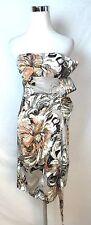 Karen Millen New #Dj091 Sateen Strapless Dress Size 12