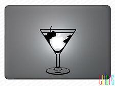 """Aufkleber Martini Glas Martiniglas für Apple Macbook Air 13""""15"""" Pro Sticker Skin"""