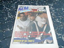 JAN 14 1984 MELODY MAKER music magazine THOMPSON TWINS - LEVEL 42 - PRETENDERS