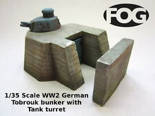 1/35 Scale WW2 German Tobrouk bunker with Tank turret - Ceramic Diorama