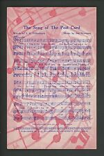 Music postcard The Song of the Postcard by PC Collectors Club America Vintage