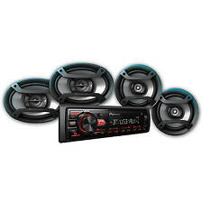 Pioneer MXT-2969BT Bluetooth Car Stereo Receiver Bundle with Four Speakers- NIB!
