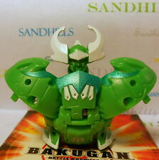 Bakugan Krakix Green Ventus Gundalian Invaders DNA 620G & cards