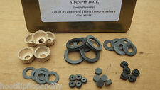 35 TILLEY LAMP WASHERS SEALS LEATHER PUMP VAPOURISER CONTROL COCK WASHER TIN BOX