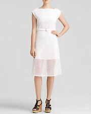 NWT Theory Afala Belted Eyelet Cube Dress White $345 – Size 10