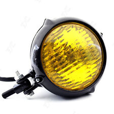 Vintage Motorcycle Amber Headlight For H4 12V 35W Off Road Vehicle Custom