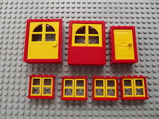 Lego Red & Yellow Bay Windows Doors House Build Project City Town Village 05