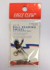 Eagle Claw Ball Bearing Swivel QTY 2 Size 4 #01083-004 64I