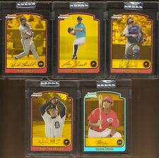 2003 BOWMAN CHROME GOLD REFRACTOR UNCIRULATED LOT MIKE LOWELL PAUL LO DUCA #/170