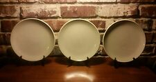 "Denby 1809 Salad plate set of 3, 9"", Taupe, Off White Edge, Very good"