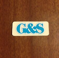 Vintage skateboard sticker G&S 1970's neil blender alva sims NOS 1