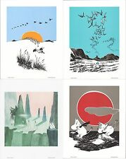 Moomin Retro Posters 24 x 30 cm Set of 4 Putinki (Set 2)