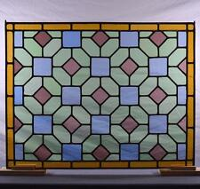 Antique French Stained Glass Panel with Leaded Glass