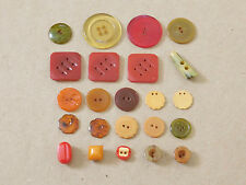 Lot of 23 Pieces Vintage Bakelite Buttons - Simichrome Tested