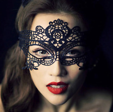 Gothic Black Venetian Masquerade Mask Eye Halloween Party Lace Fancy Dress