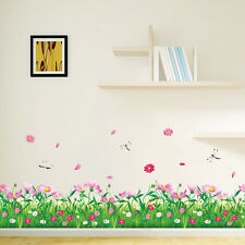Blossom  flower dragonfly Wall decal DIY Removable stickers decor kids nursery