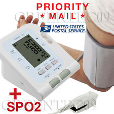 USA STOCK! Contec08C LCD Screen Digital Arm Blood Pressure Monitor +SPO2 PROBE