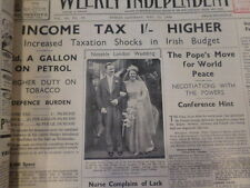 The whole year of 1939 Irish Weekly Independent Newspaper --- Very Rare