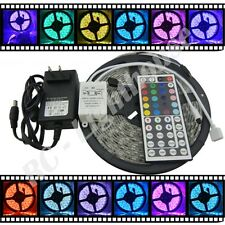 LED Light Strip, 44 Key Remote Control with AC Plug RGB 5 meters3528