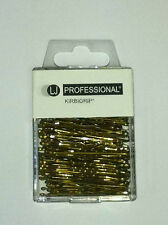 PROFESSIONAL HAIRDRESSING BLONDE HAIR GRIPS WAVED 4.5CM X 100 NEW