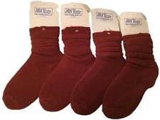 4 X MS Slouch Socks Tan Brown Adults Size 4-7 Fall Down Sock