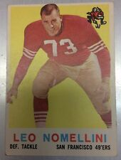 1959 TOPPS # 19 LEO NOMELLINI 49ERS Great Condition See Pictures