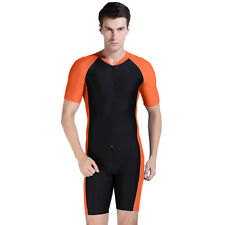 NEW XL Mens Surf Suit Wet All In 1 Body Run Unitard Leotard Tri Shiny Lycra Gym