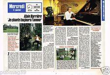 Coupure de presse Clipping 1989 (2 pages) Alain Barrière
