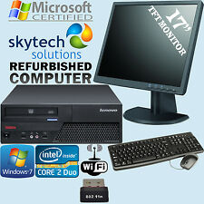 Cheap Computer Set PC Bundle All in One 17inch LCD Monitor Keyboard Mouse WiFi