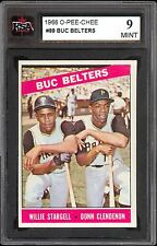 1966 TOPPS OPC O PEE CHEE 99 BUC BELTERS WILLIE STARGELL DON CLENENON KSA 9 MINT