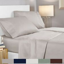 100% Egyptian Cotton 400 Thread Count 4 Piece Deep Pocket Bed Sheet Set