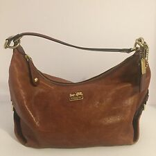 COACH 14304 Madison Hailey Cognac Leather Hobo Shoulder Bag Handbag Purse