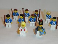 NEW LEGO Lot of 10 Bluecoat Mini Figures Army Builder Soldiers Free Shipping