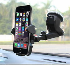 Car Mount Holder with Long Neck & Sticky Gel Pad for iPhone 6s/5c Galaxy S7/edge