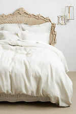 "New Anthropologie $128 Soft Washed Linen Collection King Shams Bedding 20""x36"""