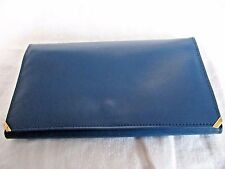 NWOT FINE SOFT ITALIAN BLUE LEATHER THIN TRIFOLD WALLET W/ COIN PURSE